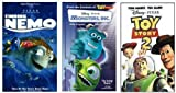 Finding Nemo + Monster's Inc. + Toy Story 2 VHS