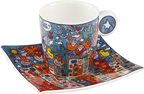 Goebel City Birds - Espressotasse Pop Art James Rizzi Bunt Fine Bone China 26102421