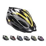 Casco de Bicicleta de Montaña, Casco de Bicicleta para Adultos Casco Ajustable con Visera Extraíble Casco de Bicicleta MTB City Specialized para Bicicleta de Montaña y para Hombres y Mujeres Amarillo