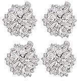 Generic 2 pares de clips de cristal floral para zapatos de diamantes de imitación de zapatos brillantes decoración de zapatos desmontables DIY accesorios para novia mujer zapatos