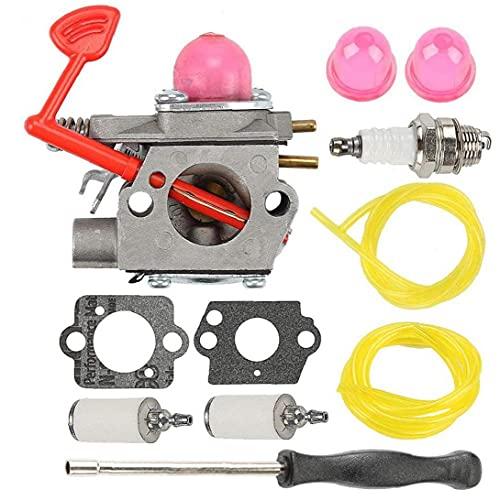 OMMO LEBEINDR Carburador Kit de reconstrucción 545081855 BVM200VS para Poulan Pro McCulloch Craftsman Blower cortacéspedes
