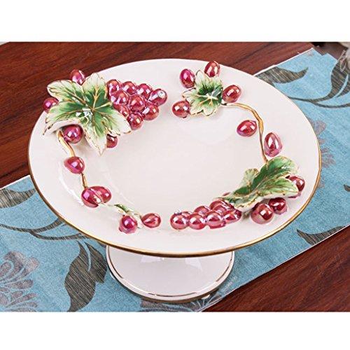 Plaque de fruits en céramique moderne créative salon Dessert plaque assiette de fruits séchés Snack plaque plaque de bonbons écologique Céramique à la main belle et pratique Xuan - worth having