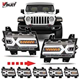 Renegade Series by Winjet Compatible with [2018 2019 2020 Jeep Wrangler JL Gladiator JT] X-LED DRL Daytime Running Lights with Sequential Fender Turn Signal