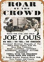 2個 8 x 12 cm メタル サイン - 1953 年ジョー ルイス ボクシング映画 メタルプレート レトロ アメリカン ブリキ 看板