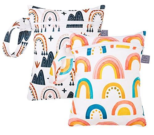 FEOYA Nasstaschen Wetbags für Stoffwindeln Windeltasche Wickeltasche Baby Nassbeutel Wetbag für Kleinkind Organiser 1/2PCS Beutel