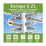 Europa V.21 - Profi Outdoor Topo Karte kompatibel mit Garmin Geräte – Komplette Europakarte