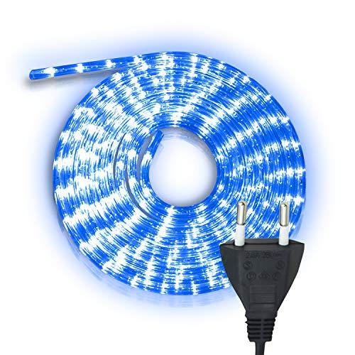 Hengda 20m LED Lichtschlauch Lichterschlauch Blau, Wasserdicht Lichtschläuche mit 480 LEDs, Lichterkette für Weihnachten Party, Außen Garten, Innen Dekoration