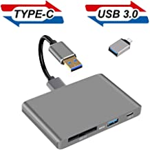 XQD Card Reader, 2019 Upgraded XQD 2.0 Adapter with USB 3.0USB-C Port Memory Card Reader Compatible with Sony G/M Lexar Nikon DELKIN Devices USB Mark Card Compatible with Windows/MacBook