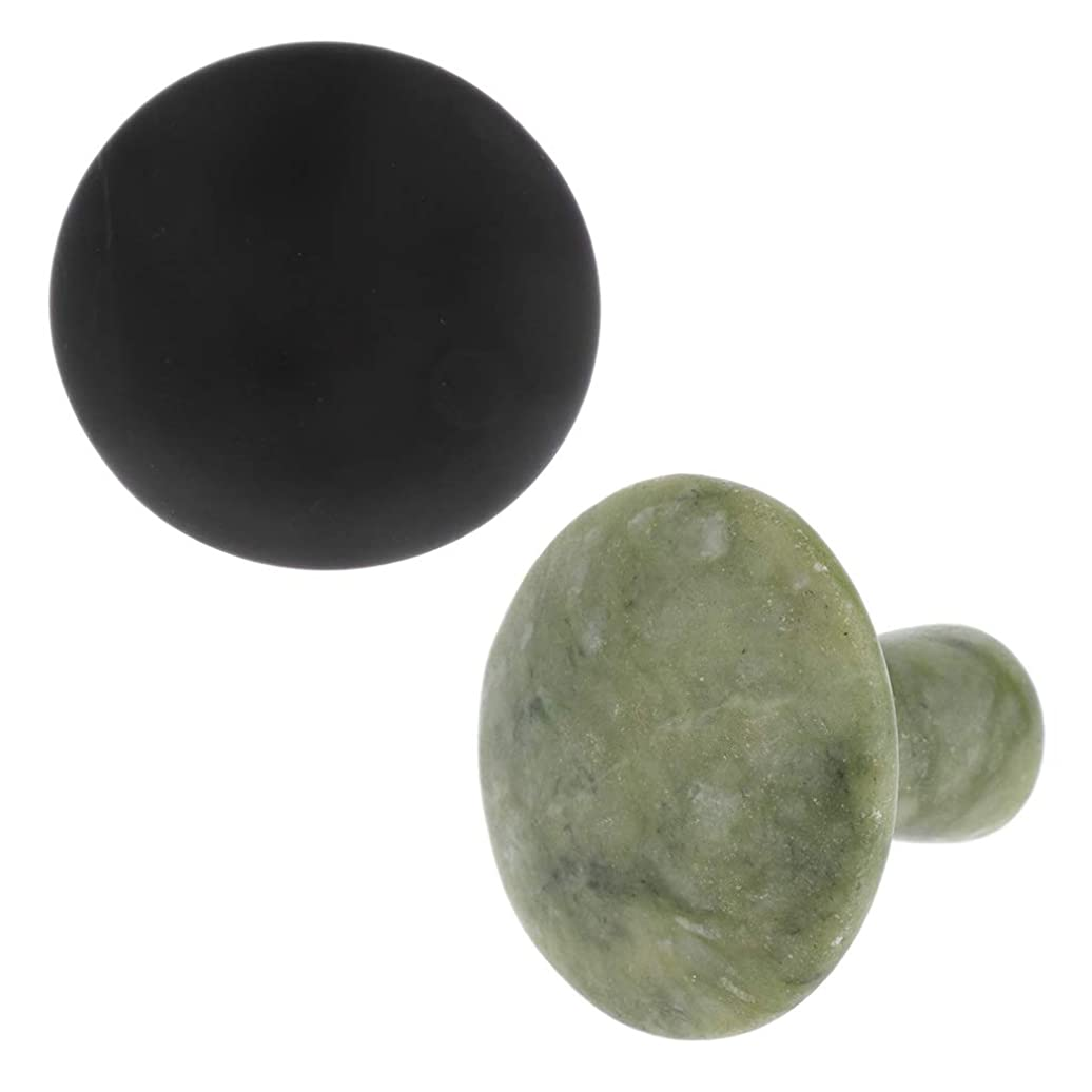 Perfeclan 天然石 マッサージストーン 2個入