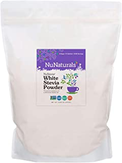 NuNaturals White Stevia Powder, All Purpose Natural Sweetener, Sugar Free, 5 Pound Bag