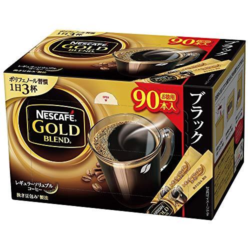 スマートマットライト ネスカフェ ゴールドブレンド スティック ブラック 90P 【レギュラーソリュブルコーヒー】【個包装 スティックタイプ】【大容量】