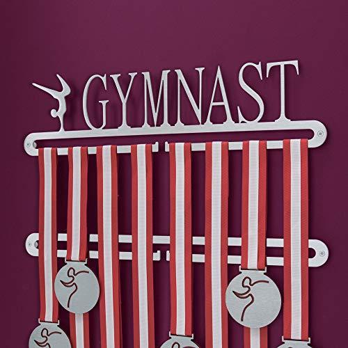 Medagliere da parete a due livelli per medaglie ottenute nella ginnastica