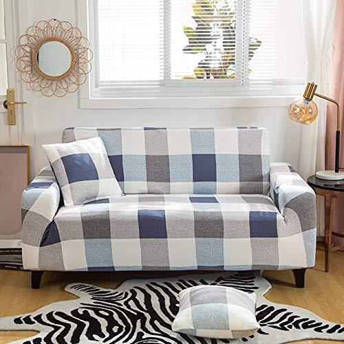 WXQY Fundas elásticas con Tiras Cruzadas Fundas elásticas Totalmente envolventes Funda de sofá Antipolvo Funda de sofá Funda de sillón Toalla de sofá A28 4 plazas