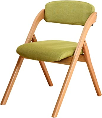 Folding Chairs Folding Lawn Chairs, Simple and Modern Wooden Dining Chair, Living Room Backrest Folding Chair, No Installation, Removable and Washable, Can Bear 150kg