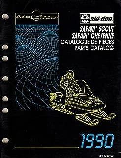 1990 SKI-DOO SNOWMOBILE SAFARI,SCOUT,CHEYENNE PARTS MANUAL P/N 480 1249 00 (337)