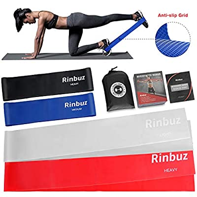 Rinbuz Exercise Resistance Bands, 2 Non-Slip Re...