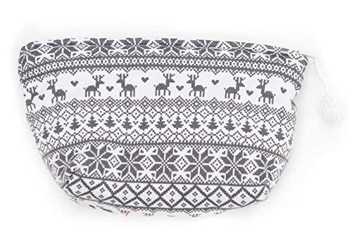 Louis & Louisa Kosmetik Tasche im Norweger Design Allover grau