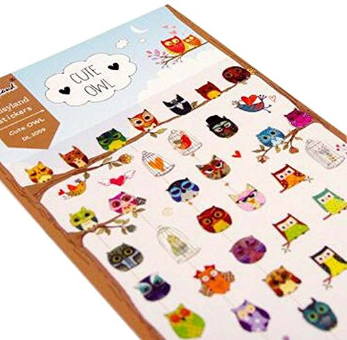 5 feuilles de bricolage autocollants décoratifs Craft Scrapbook Stickers Hibou