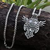 1Pcs Antigua Plata Viking Cuervo Hombres Colgante Celt Odin Pendat Nórdico Vegvisir Collar Noruega Valknut Pagano Amuleto Colgante