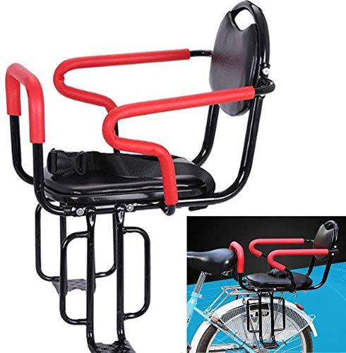 GLJY Seggiolino per Bicicletta per Biciclette Addensare Il bracciolo e Il Pedale Staccabili del recinto, Cuscino del bracciolo del Sedile Posteriore della Bicicletta dei Bambini per Le età Multiple