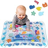 Tummy Time Baby Water Play Mat Inflatable Toy Mat for Infant & Toddlers Activity Center...