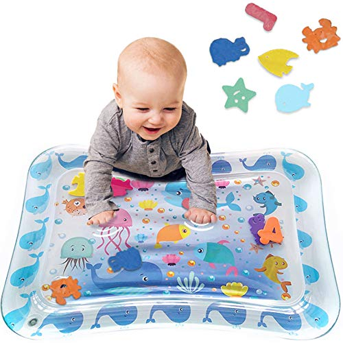 Best Bargain Tummy Time Baby Water Play Mat Inflatable Toy Mat for Infant & Toddlers Activity Center...