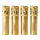 Carlson's Choke Tube Beretta Benelli Mobil Gold Competition Target Ported Sporting Clays Choke Tube, 12 Gauge, Skeet, Gold