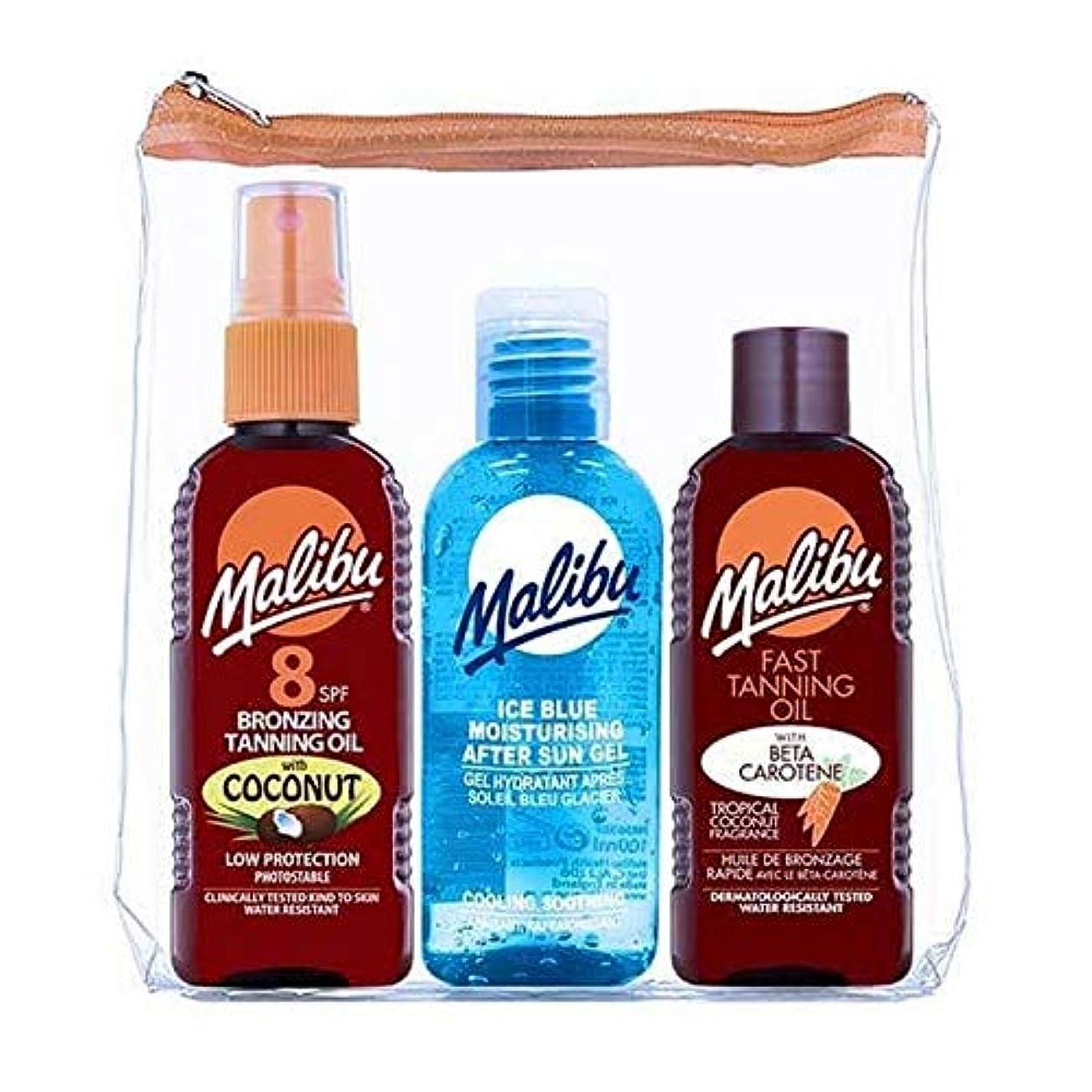 不均一何管理[Malibu ] マリブSpf8ココナッツ日焼けオイルのアイスブルー - Malibu SPF8 Coconut Tan Oil Ice Blue [並行輸入品]