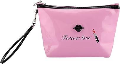 Shoplice Make-uptas, mode-make-uptas, PU-kunststof, waterbestendig, draagbaar, roze
