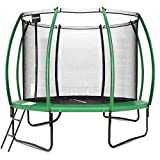WIN.MAX Trampoline 10-Foot Pumpkin-Shaped Recreational Trampolines with with Enclosure – Sturdy Top-Ring Enclosed Trampoline with Safety Pad | TUV Certified Backyard Trampoline for Kids