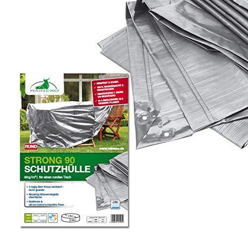 Bio Green RX90-TR SG Bâche de Protection pour Table Rond/Ovale Gris Argenté 2,15 x 0,90 m
