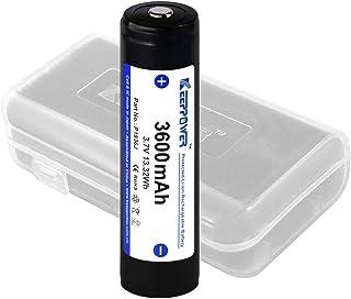 【国産セル】 KEEPPOWER 3600mAh 保護回路付 リチウムイオンバッテリー (ケース付属) (数量1)