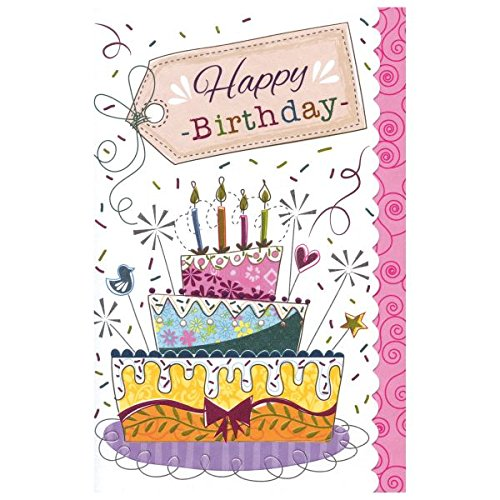 Susy Card verjaardagskaart, afmetingen: 17 x 11 x 0, 1 cm taart