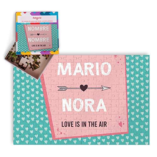 Fotoprix Puzzle con Nombre Personalizado para San Valentín | Regalo Pareja | Día de los Enamorados (Cupido)