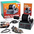 Advanced Professional Rock Tumbler Kit - with Digital 9-day Polishing timer & 3 speed settings - Turn Rough Rocks into Beautiful Gems : Great Science & STEM Gift for Kids all ages : Geology Toy by Dan&Darci