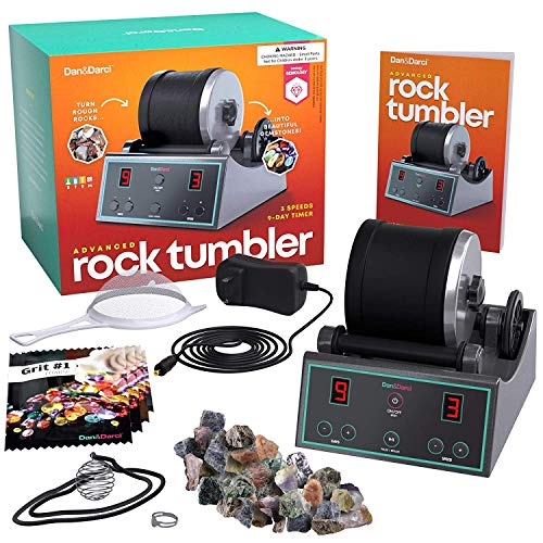 Advanced Professional Rock Tumbler Kit - with Digital 9-day Polishing timer & 3 speed settings - Turn Rough Rocks into...
