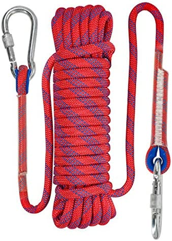 NewDoar 24KN 8-10mm 3//8in Hiking Mountaineering Rock Climbing Rope High Strength Accessory Cord Safety CE for Outdoor Survival