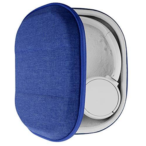 Geekria Funda para Auriculares Sony WH-CH510, WH-CH500, WH-XB900N, WH-1000XM3, WH-1000XM2, MDR-1000X, Estuch Rígido de Transporte, Viaje Bolsa (Azul)