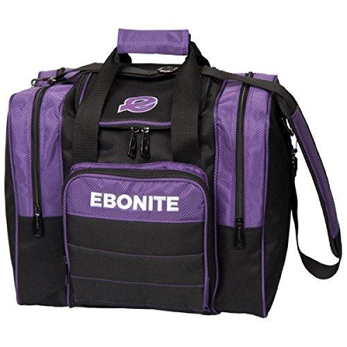 Ebonite Impact Plus 1 Ball Bowling Single Tasche mit Platz für Ball, Schuhe und Zubehör in verschiedenen Farben (Lila 2017)
