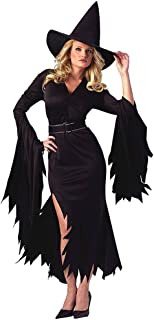 Halloween Costumes for Women Retro Witch Sorceress Costume 2 Pieces with Hat