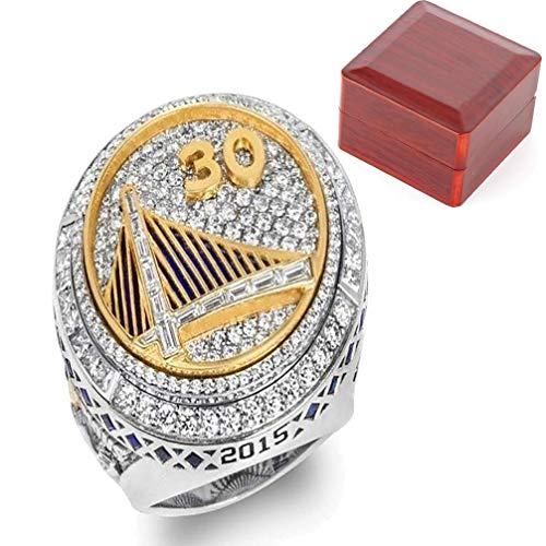 ZJL Europa en Amerika herenring, 2015 Europa en Amerika Nba Golden State Warriors Curry Championship ringen heren sieraden ringen met display doos maat 9-12,11 11