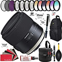 Tamron SP 35mm f/1.8 Di VC USD Lens for Canon EF with Heavy Duty Lens Case and Accessories