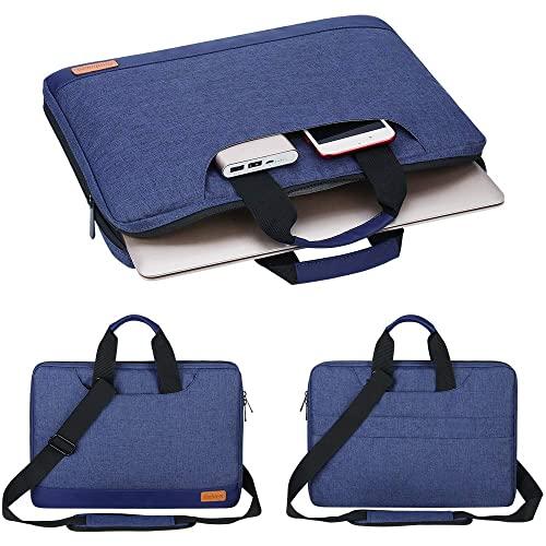 SIMBOOM Funda Portatil 15,6 Pulgadas Protectora Anti-rasguños Maleta Bolsa para Ordenadores Portatiles Compatible con Netbook Ultrabook Chromebook Notebook Macbook - Azul
