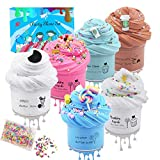 EASYCITY 6Pack Butter Slime with Candy Slime, Oreo Slime, Latte Slime, Ice-Scream Slime, Super Soft and Non-Sticky DIY Sludge Toy for Kids