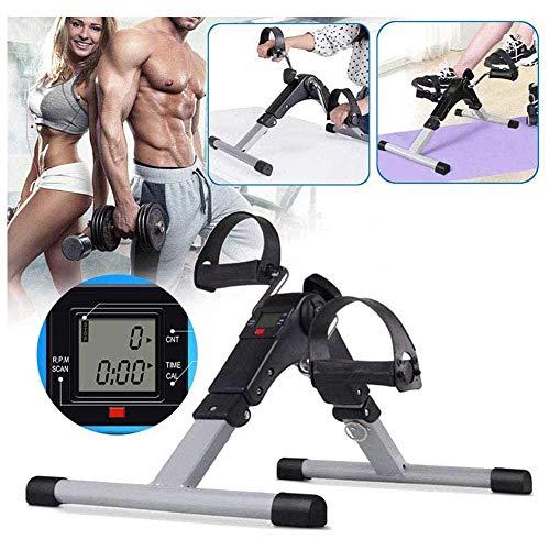 Rong-- Mini Oefening Bike Arm en Been Oefening Verstelbare Massage Oefening Fiets Pedaal Oefening met Digitale LCD Monitor Onder Bureau Bike Pedaal Oefening Draagbare Voet Cyclus