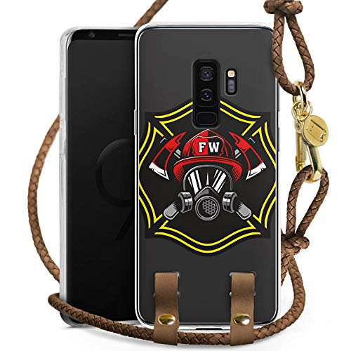 DeinDesign Carry Case kompatibel mit Samsung Galaxy S9 Plus Duos Handykette Handyhülle zum Umhängen Feuerwehrmann Rettungsdienst Feuerwehr