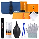 K&F Concept 8-in-1 Professional Cleaning Kit 8 x 16mm APS-C Swabs + 2 x 24mm Full Frame Swabs with Cleaning Bottle (Empty) for DSLR SLR Camera/Lens/Delicate Electronic Devices