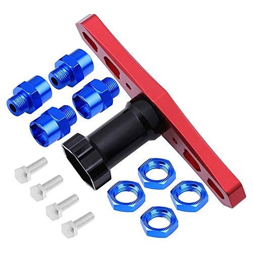 Timagebreze Rueda de 17 Mm Adaptador de Cubo Hexagonal ExtensióN de ConversióN Desplazamiento para Coches RC Camiones Off Road Buggy ActualizacióN 1/8 NeumáTicos Azul