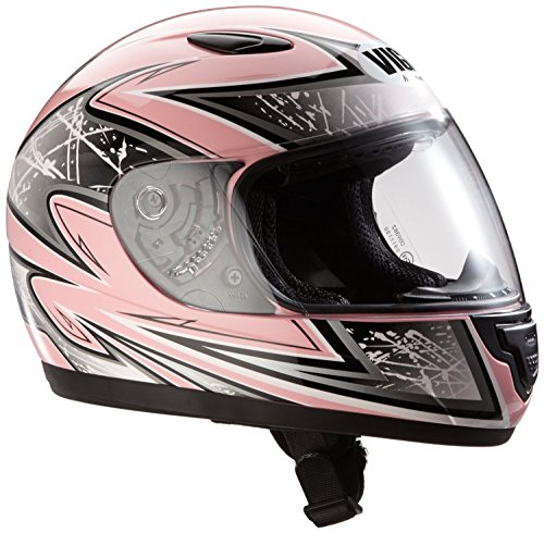Protectwear Casco de moto de los niños color de rosa SA03-PK Tamaño S (juventud XL) 54/55 cm