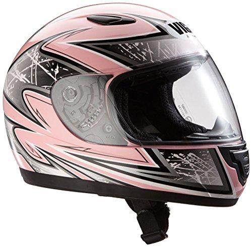 Protectwear SA03-PK-XS Kinder Motorradhelm, Integralhelm, Größe XS (Youth L), Pink/Silber